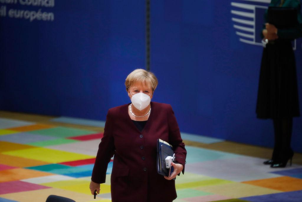 Angela Merkel attends an EU summit in Brussels earlier this week.