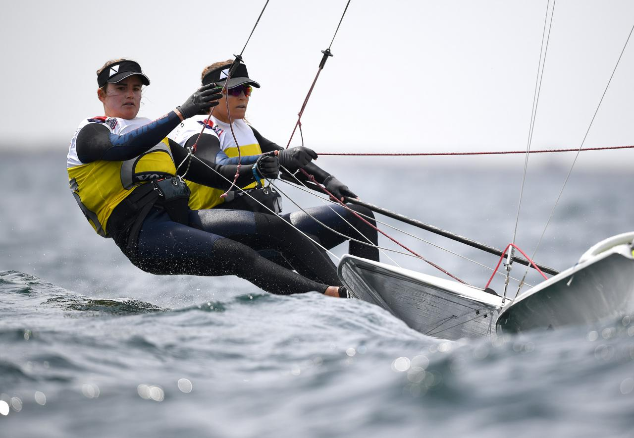 Kahena Kunze and Martine Grael, Rio 2016 gold medallists in the 49erFX sailing, are among the TIM brand ambassadors for Tokyo 2020 ©Getty Images